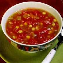 Spicy Tomato and Corn Soup
