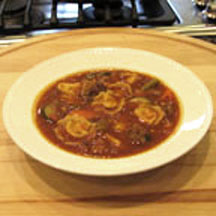 Tortellini and Italian Sausage Soup