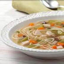 Turkey Vegetable Soup with Angel Hair Pasta